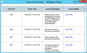 детализированный отчет применения групповых политик в windows 8 server beta