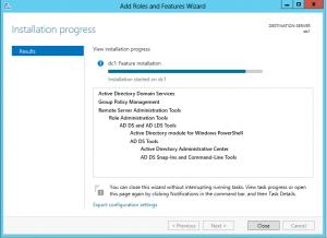 установка служб AD DS в Windows 8 Server Beta