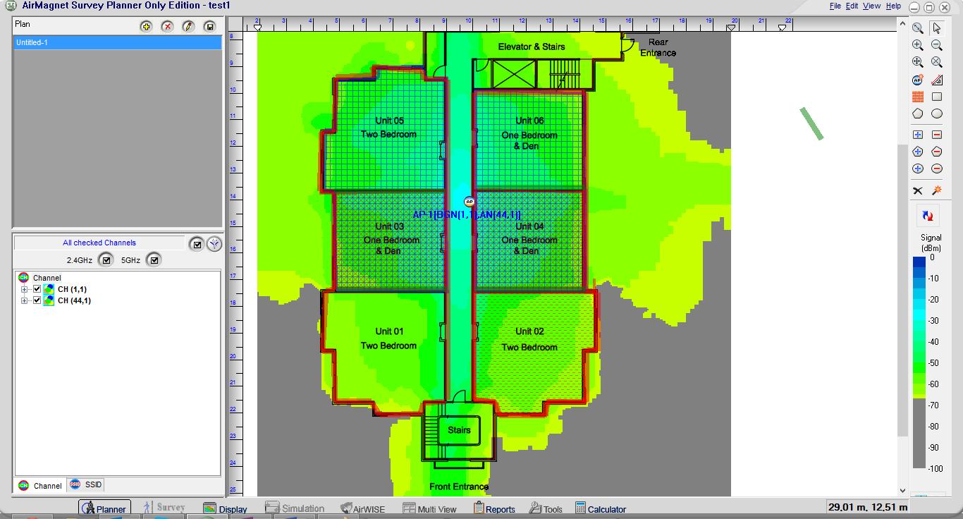 airmagnet planner result